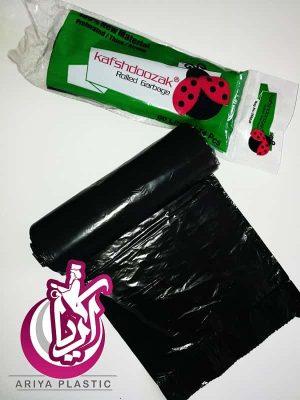 فروش عمده کیسه زباله رولی مشکی کفشدوزک