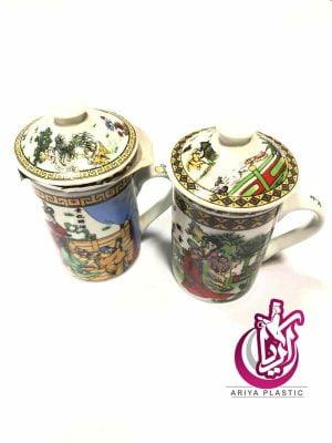 فروش لیوان چای سبز درب دار