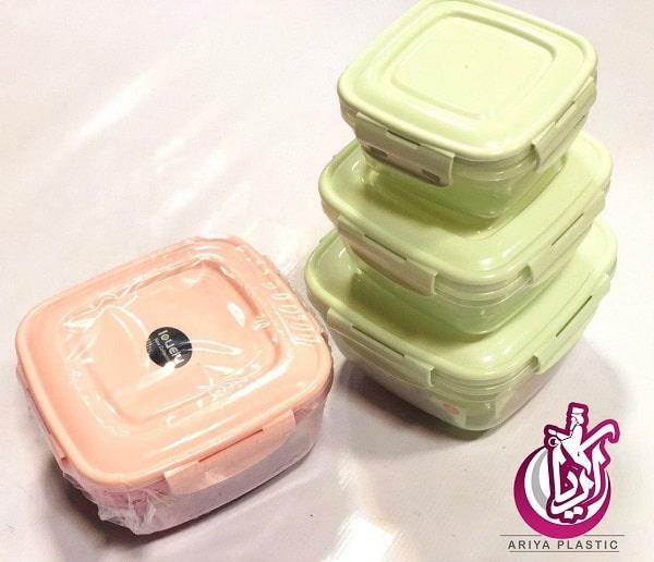 فروش ظروف فریزری ۳ تکه مربع