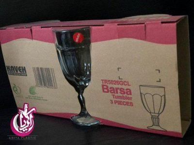 فروش عمده لیوان پایه دار بارسا بلور
