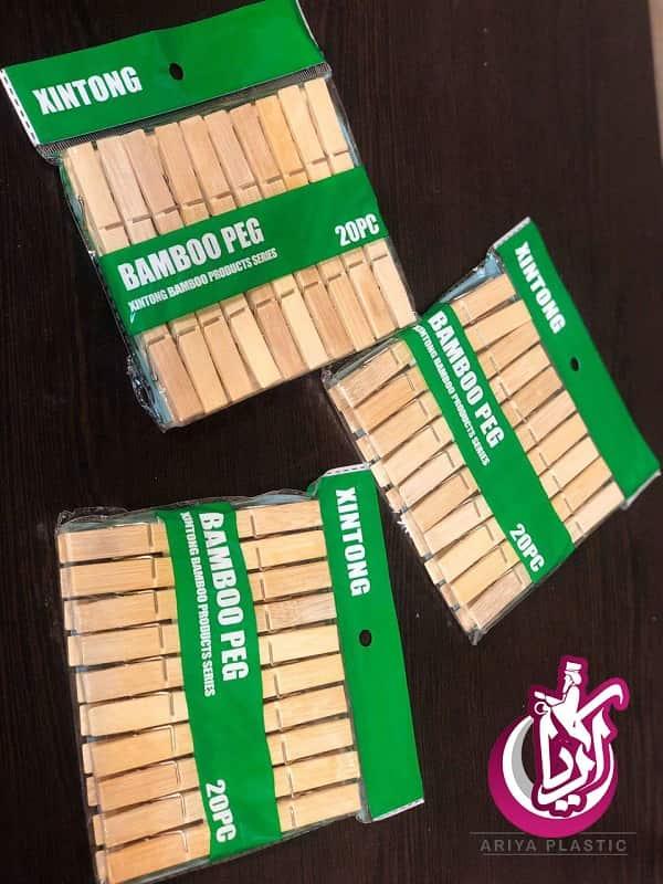 فروش گیره لباس چوبی - 20 عددی