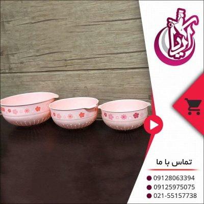 فروش آبکش گلدار لاولی رنگی