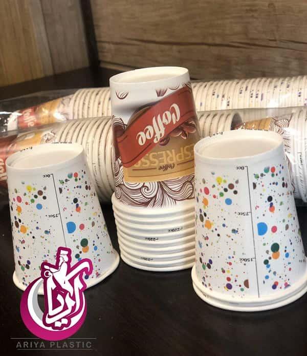 فروش لیوان کاغذی گلاسه یکبار مصرف طرح دار