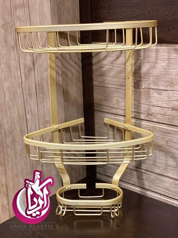 فروش سه گوش حمام آلومینیوم استار طلایی رنگ