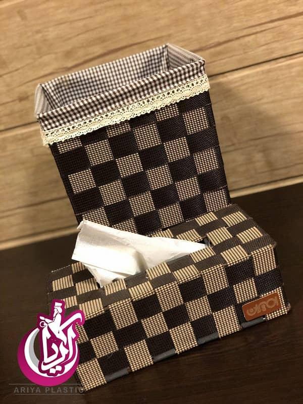 فروش سطل و جا دستمال امیران - شطرنجی