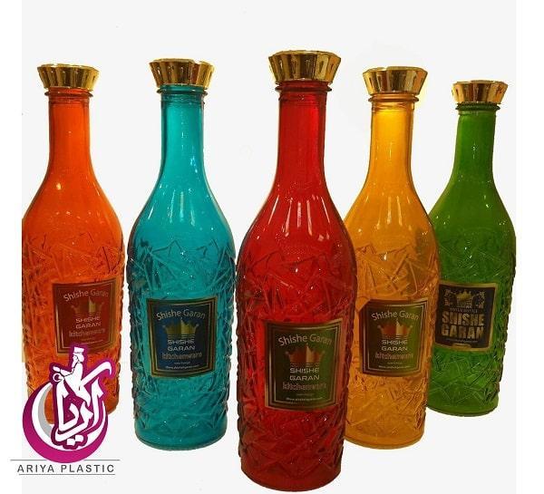فروش عمده بطری درسا رنگی