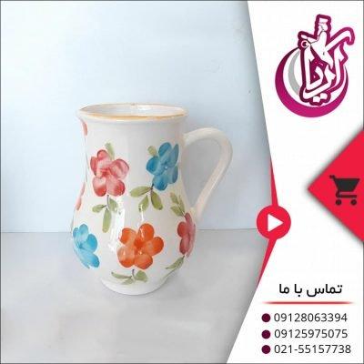فروش عمده پارچ گلدار سفالی