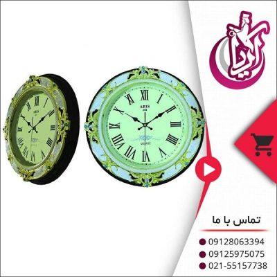 فروش ساعت دیواری گرد آریس پلی استر