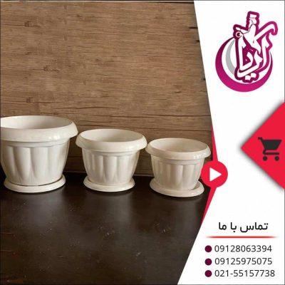 فروش گلدان شاهکار سفید - تصویر صفحه آریا