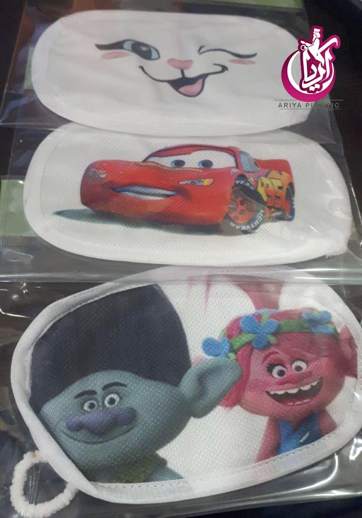 ماسک کودک طرح دار بهداشتی و قابل شستشو